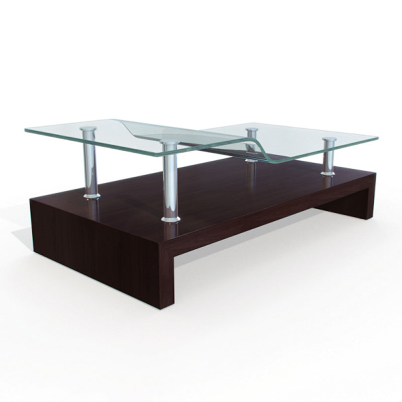 3D Model of 2 level bent coffee table 01 17