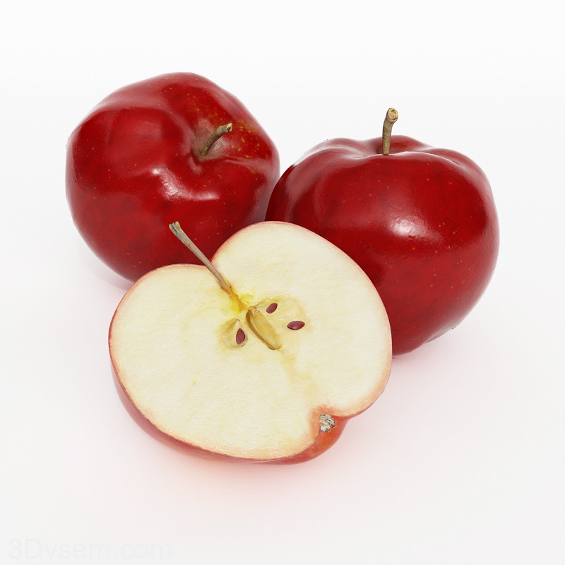 3d models apples