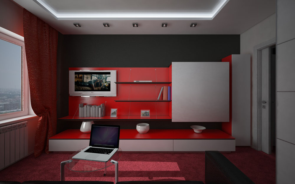 Interior of a living room for Cinema 4D