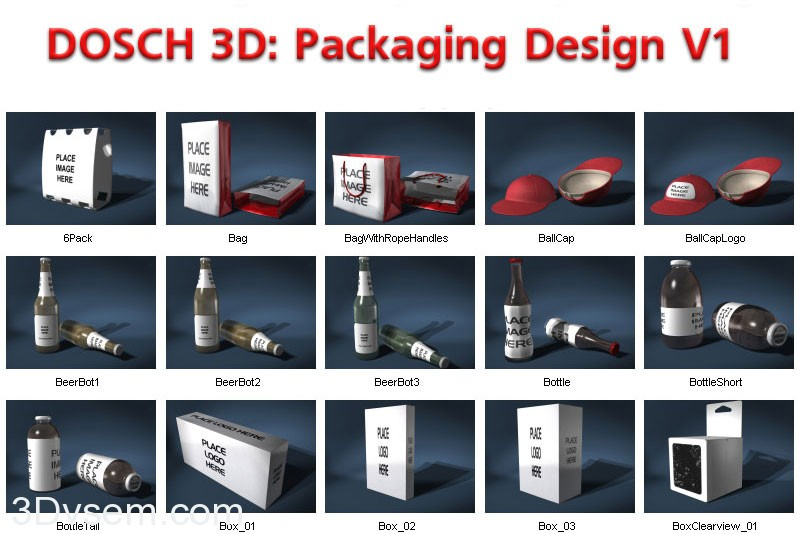 DOSCH 3D: Packaging Design V1