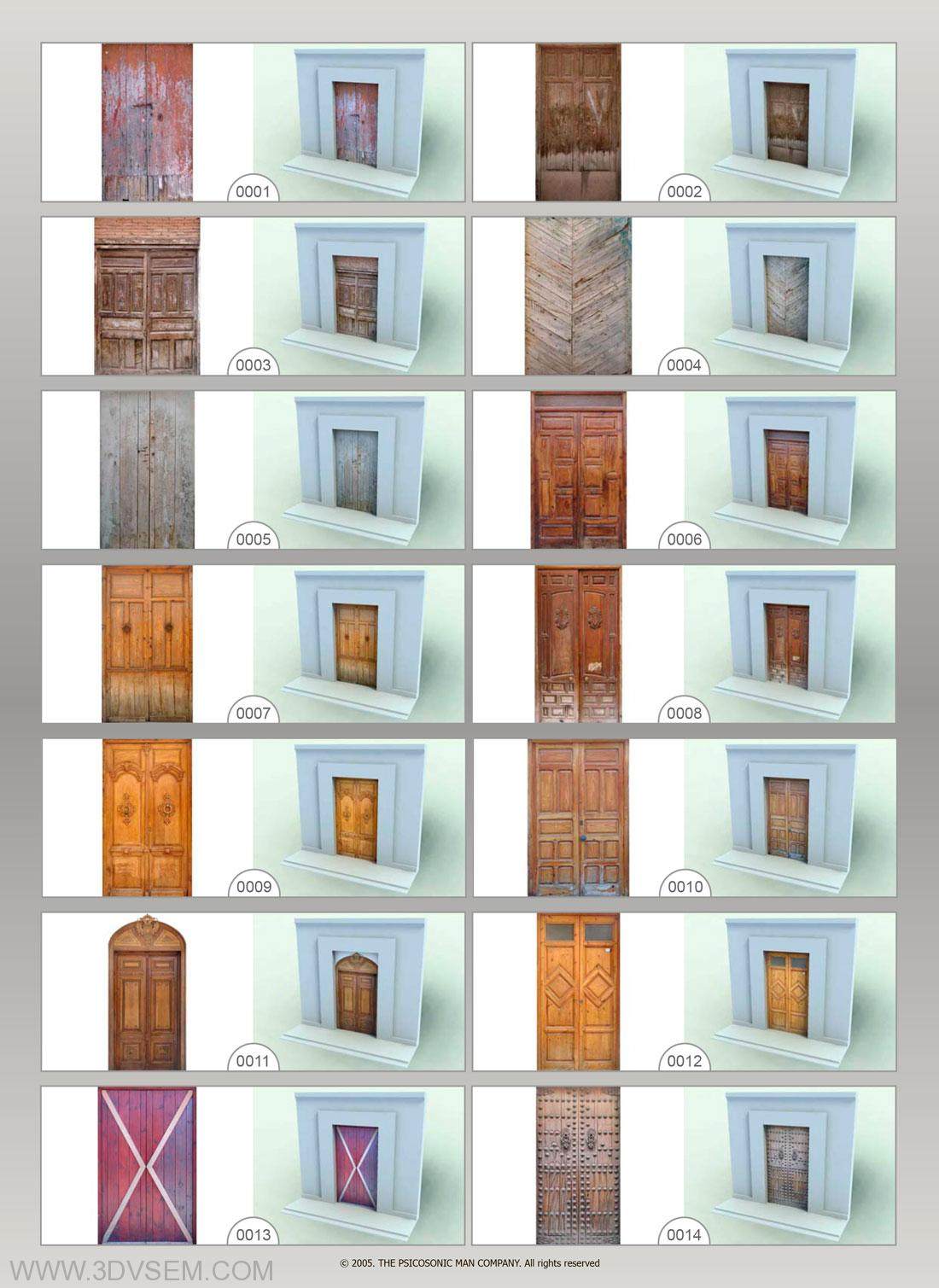 The Psicosonic Man Textures Collection Vol.9, Varied Doors  Textures