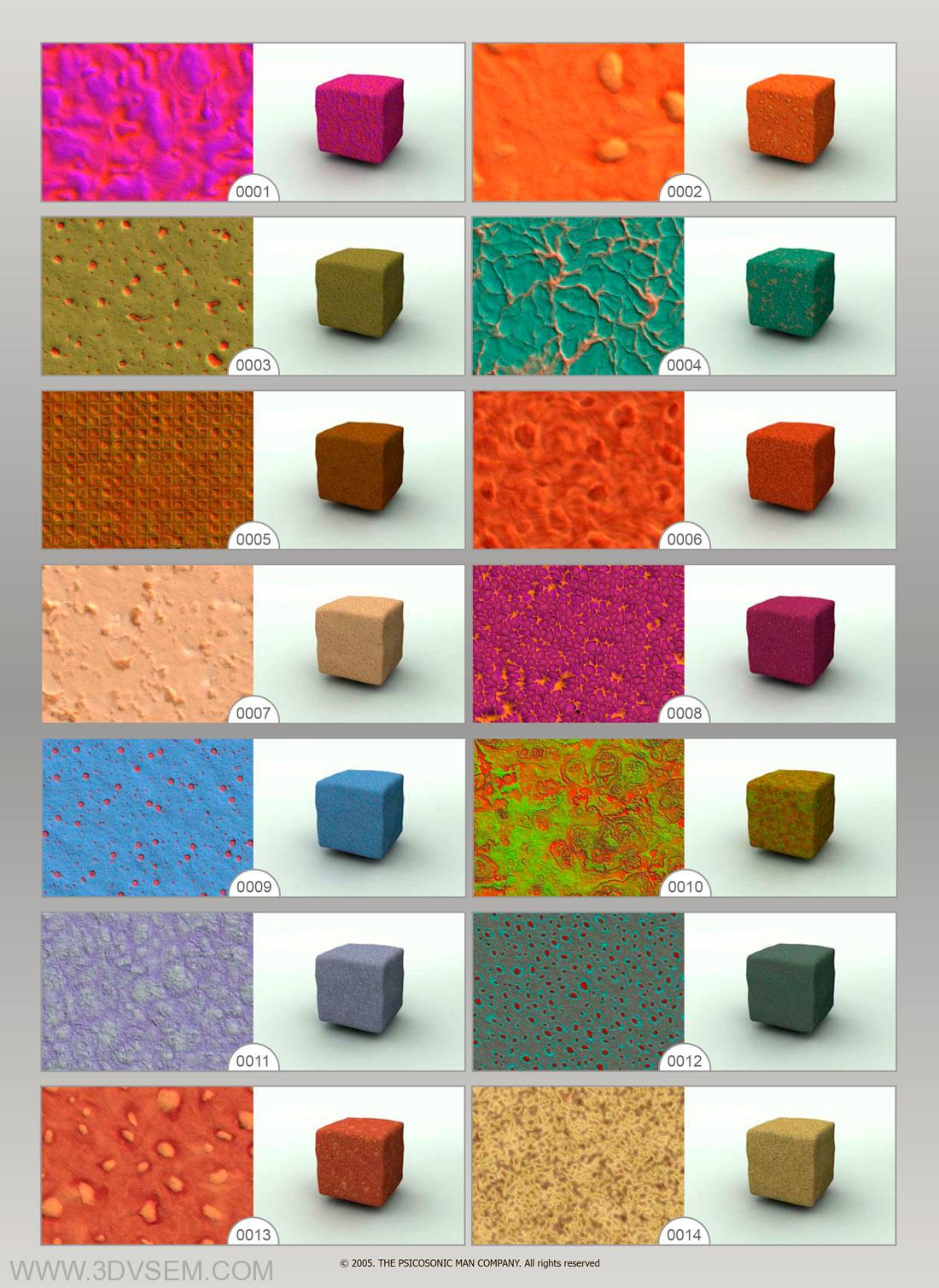 The Psicosonic Man Textures Collection Vol.012,  Artificial Materials Textures